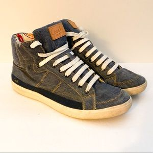Coach Ellis high top sneakers denim color